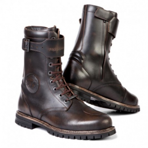 STYLMARTIN Cafè Race ROCKET Man Boots - Brown - Special Offer