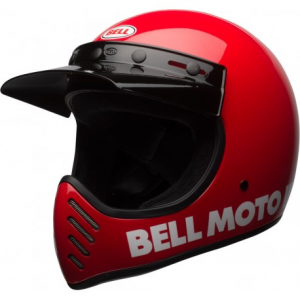 BELL MOTO 3 CLASSIC RED Full Face Helmet - Red