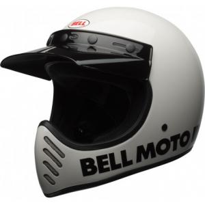 BELL MOTO 3 CLASSIC WHITE Casco Integrale - Bianco