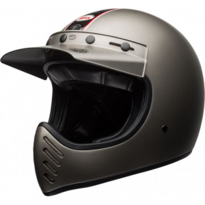 BELL MOTO 3 INDEPENDENT MATT TITANIUM Full Face Helmet - Matt Titanium Grey