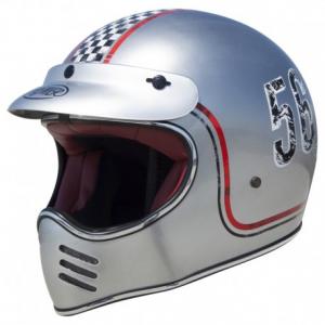 PREMIER MX FL Chromed Full Face Helmet - Grey