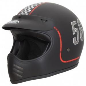 PREMIER MX FL9BM Full Face Helmet - Matt Black