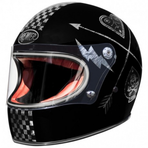 PREMIER Trophy NX Silver Chromed Full Face Helmet - Black