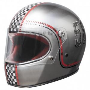 PREMIER Trophy FL Chromed Full Face Helmet - Grey