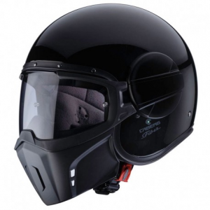 CABERG Ghost Open Face Helmet - Gloss Black