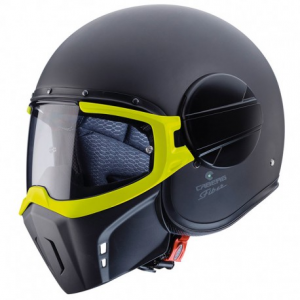 CABERG Ghost FLUO Open Face Helmet - Matt Black