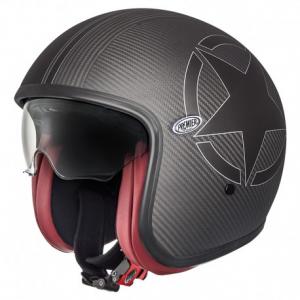 PREMIER Vintage STAR CARBON BM Open Face Helmet - Carbon Black