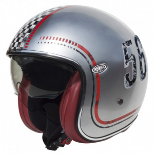 PREMIER Vintage FL Chromed Open Face Helmet - Grey