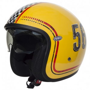 PREMIER Vintage FL12 Open Face Helmet - Yellow