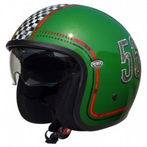 PREMIER Vintage FL6 Open Face Helmet - Green