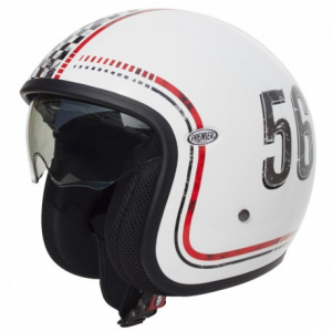 PREMIER Vintage FL8 Open Face Helmet - White