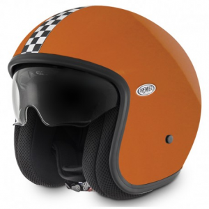 PREMIER Vintage CK Orange Open Face Helmet - Orange