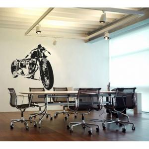 VISUAL THINK Bobber Motorcycle MC 04 Wall Sticker - Black