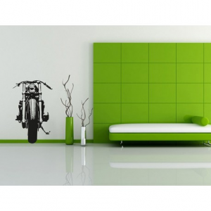 VISUAL THINK Cafe Racer Motorcycle MC 02 Wall Sticker - Black