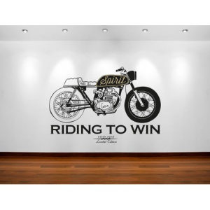 VISUAL THINK Riding To Win MC 15 Wall Sticker - Black