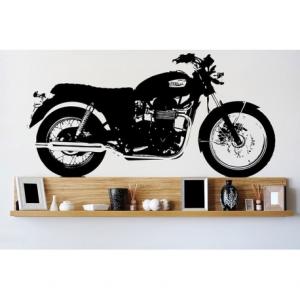 VISUAL THINK Triumph Motorcycle MC 01 Wall Sticker - Black