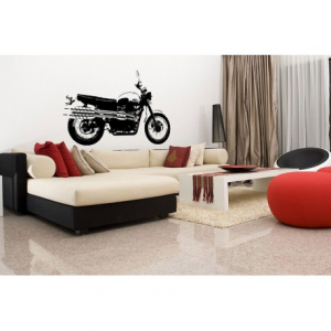 VISUAL THINK Triumph Motorcycle MC 08 Wall Sticker - Black