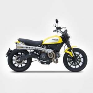 ZARD 2 in 1 High Mounted Full Exhaust for Ducati Scrambler - Stainless Steel