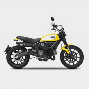 ZARD 2 in 1 Special Edition High Mounted Full Exhaust for Ducati Scrambler - Stainless Steel