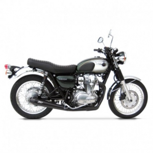 ZARD 2 in 1 Conical Full Exhaust for Kawasaki W800 - Stainless Steel