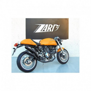 ZARD Pair of overlapped silencers for Ducati Sport Classic Paul Smart - Stainless Steel