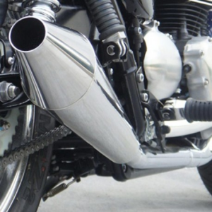 ZARD Pair of side silencers for Triumph Bonneville SE - Polished Stainless Steel