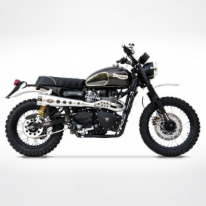ZARD Special Edition 2 in 1 High Mounted Full Exhaust for Triumph Scrambler - Stainless Steel