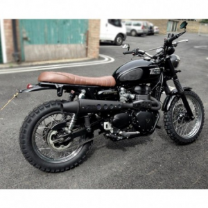 ZARD 2 in 1 High Mounted Full Exhaust for Triumph Scrambler - Stainless Steel