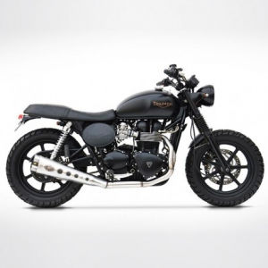ZARD Special Edition 2 in 1 Low Mounted Short Full Exhaust for Triumph Thruxton - Stainless Steel