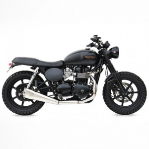 ZARD 2 in 1 Low Mounted Short Full Exhaust for Triumph Thruxton - Stainless Steel