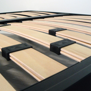 sommier renforc avec lattes en bois et r glage manuel. Black Bedroom Furniture Sets. Home Design Ideas
