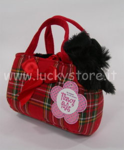 Aurora Scottish Terrier Schnauzer in borstetta cane peluche 25 cm qualità extra