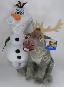 Disney Frozen Il Regno di Ghiaccio peluche 20 cm Olaf Sven Originale