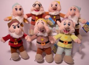 Disney Sette Nani peluche 25 cm Nuovo Originale