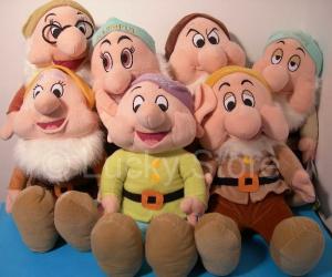 Disney Sette Nani Peluche Gigante 65 cm nomi in italiano Originale