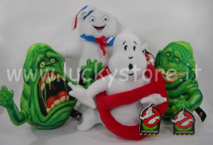 Ghostbusters peluche 20 cm Fantasmi Slimer Ride Stay Puft Mashmallow