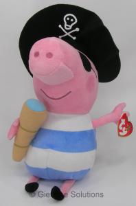 Peppa Pig George Pirata TY Buddies peluche 30 cm velluto