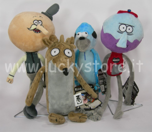 Regular Show Peluche 30 cm Mordecai Pops Rigby Benson Cartoon Network
