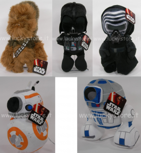 Star Wars Peluche 30 cm Darth Vader Kylo Ren R2D2 Bb8 Chewbacca