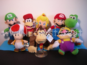 Super Mario peluche Grande 65 cm Yoshi Donkey Diddy Kong Originale