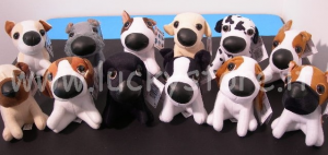 The Dog peluche 25 cm collare Bulldog Border Collie Beagle Dalmata Originale