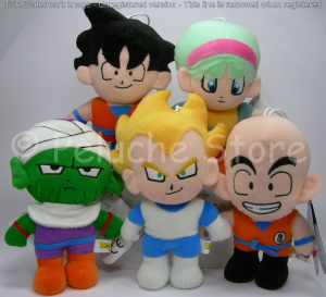 Dragon Ball Z peluche 30 cm Goku Vegeta Krillin Bulma Piccolo Originale