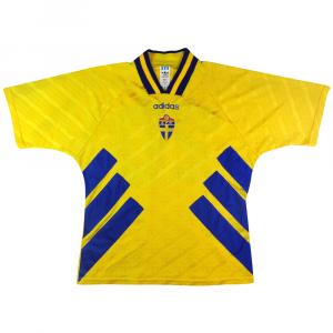 1994-96 Svezia Maglia Home L #20