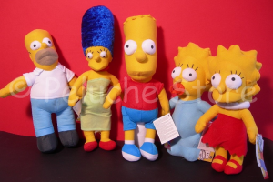 Simpson peluche 20 cm Bart Homer Marge Lisa Maggie Originali