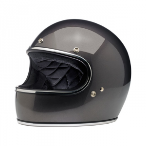 BILTWELL GRINGO CHARCOAL Casco Integrale - Nero Carbone Metallico
