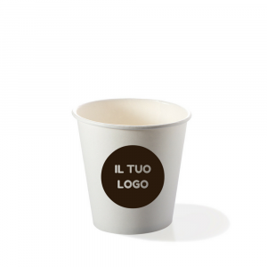 Bicchieri biodegradabili cartoncino personalizzati 120ml - espresso