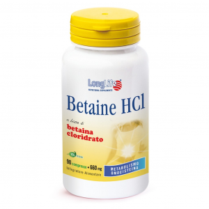 BETAINE HCI - INTEGRATORE PER METABOLISMO OMOCISTEINA LONG LIFE
