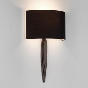 GAUDI  lampada da parete in bronzo e paralume in tessuto