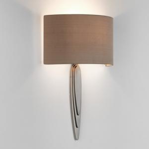 GAUDI lampada da parete in nichel e paralume in tessuto