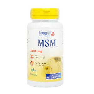 MSM 1000mg - INTEGRATORE ALIMENTARE PER PELLE, UNGHIE E CAPELLI LONG LIFE